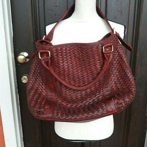 Deux Lux Cross Stitched Bag